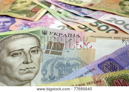 Background of the Ukrainian hryvnia.