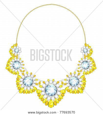 Necklace on a gold chain