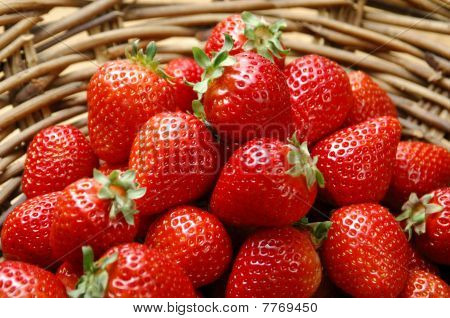 Starwberry In Basket