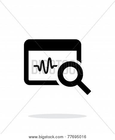 Pulse monitoring icon on white background.