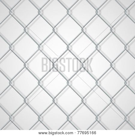 Chain fence background with shadow