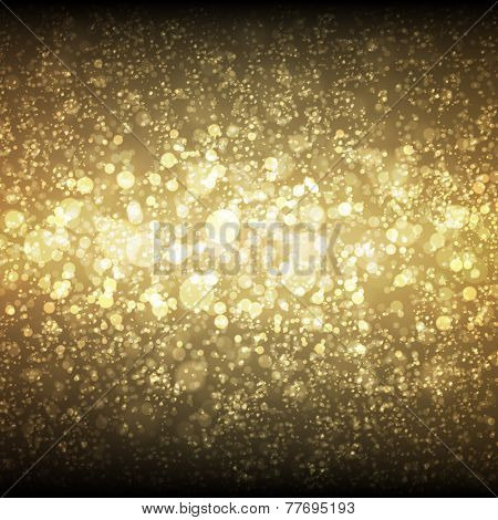 Festive Christmas and New Year bokeh background with space for text message.