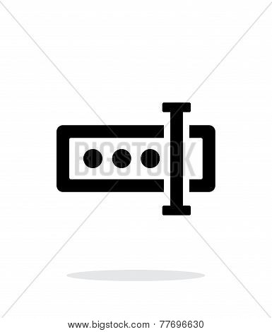 Input password icon on white background.