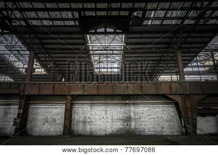 Large industrial hall under construction