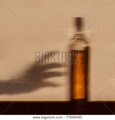 Alcohol Addiction Concept