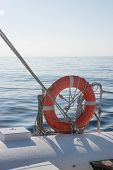 picture of life-boat  - Life preserver on boat - JPG