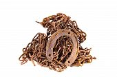 picture of scrap-iron  - rusty iron metal scrap isolated on white background - JPG