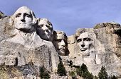 picture of mount rushmore national memorial  - Views of Mt Rushmore located in the Black Hills of South Dakota - JPG
