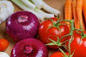 foto of scallion  - Red onion - JPG