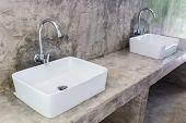stock photo of wash-basin  - Hand Washing Basin  - JPG