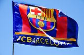 FC Barcelona Flag Waving On The Wind