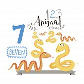 picture of number 7  - Children alphabet of animals and figures - JPG