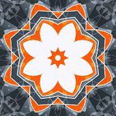 stock photo of holistic  - Mandala orange swadhisthana lotus flower symbol - JPG