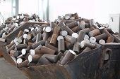 image of raw materials  - Round billet of metal raw materials for further processing - JPG