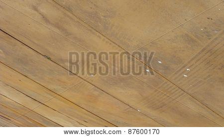 Rusty Grunge Steel Panel With Tire Mark