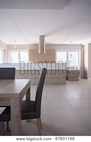 Wooden Furniture In Luxury Interior