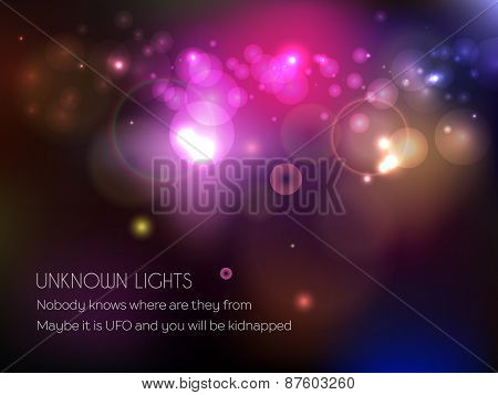 Vector Shine Bokeh Background