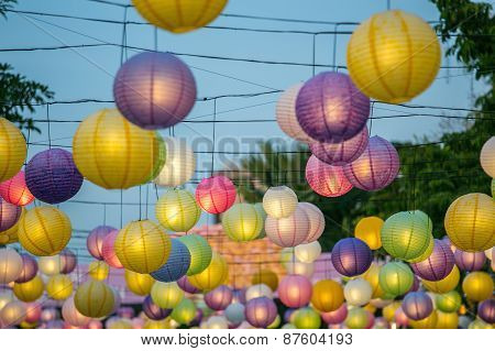A Hanging Colourful Lantern