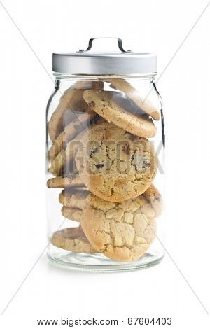 the chocolate cookies in jar