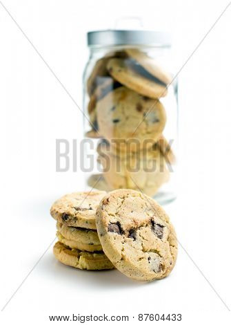 the pile of chocolate cookies