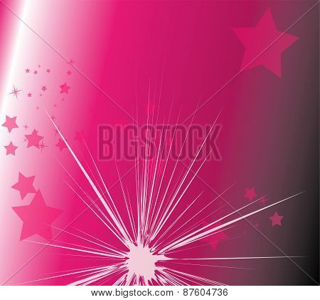 Star light with purple background