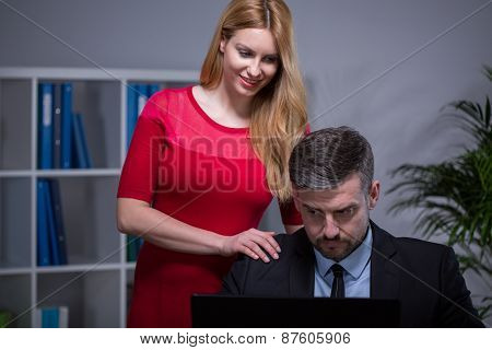 Woman And Inappropriate Touch
