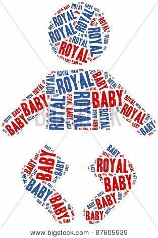 Royal Baby. Word Cloud Illustration.
