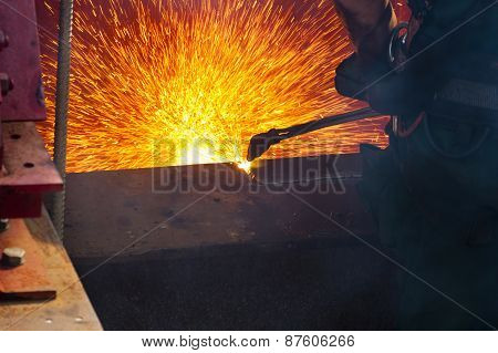 Cutting A Steel Beam