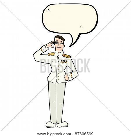 cartoon military uniform man