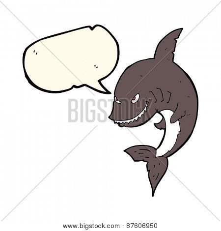 cartoon mean looking shark