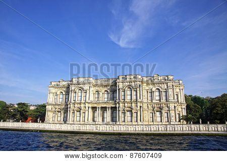 Beylerbeyi Palace On The Bank Of Bosphorus Strait In Istanbul