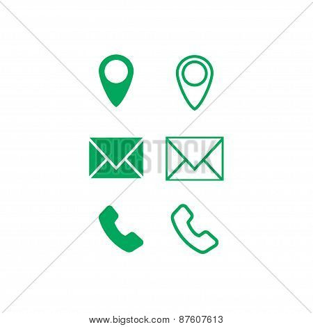 Icons for business cards