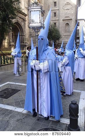 Easter Procession In Granada Spain