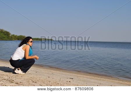 Young Woman Near The Water