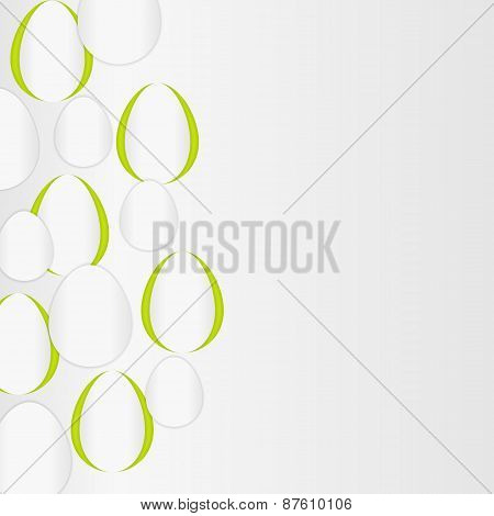 Paper Vector Background With Egg Shapes