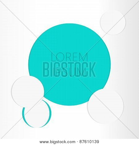 Paper White Vector Background With Blue Circle