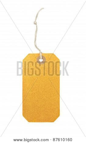 Black Label (tag) Isolated On White Background