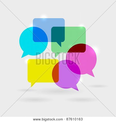 Social Network Communication Speech Bubbles
