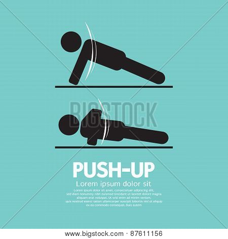 Push Up Sport Sign.