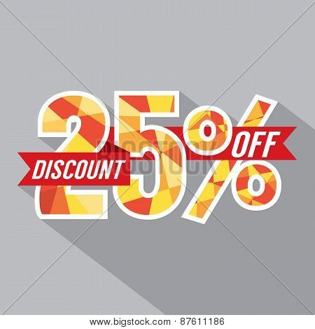 Discount 25 Percent Off.