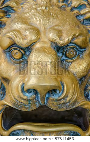 Lion Head Postal Box