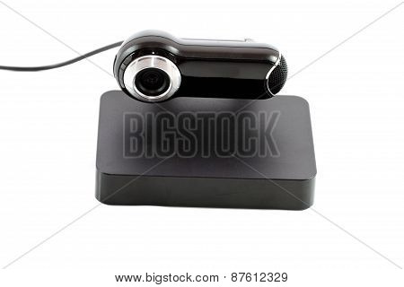 Webcam with Cable and Hard Drive Disk