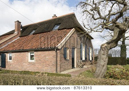 Netherlands - Bronckhorst - Circa March 2015: Farmhouse In The Smallest City In The Netherlands.