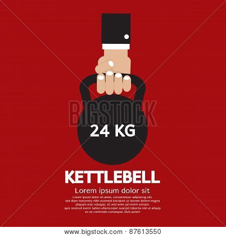 Kettlebell Fitness Exercising Sign.