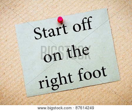 Start Off On The Right Foot