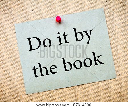 Do It By The Book