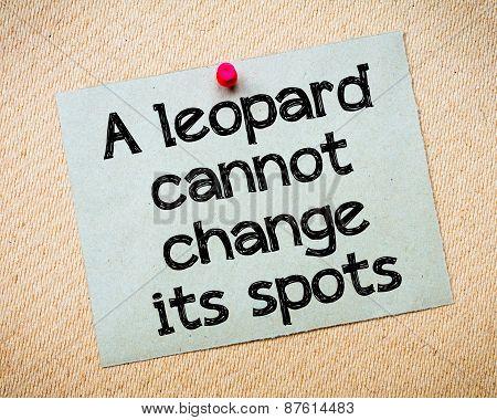 A Leopard Cannot Change Its Spots