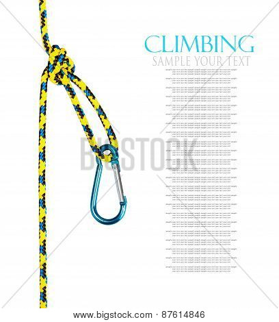 Climbing Equipment Isolated On White Background