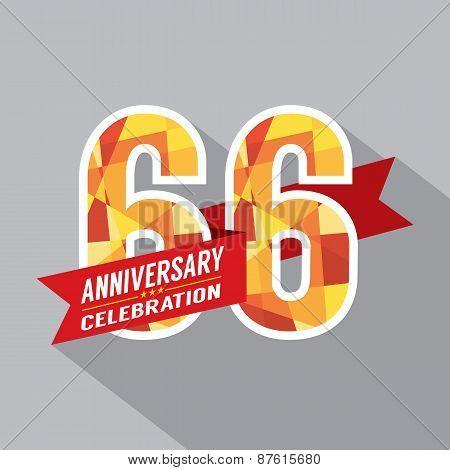 66Th Years Anniversary Celebration Design.