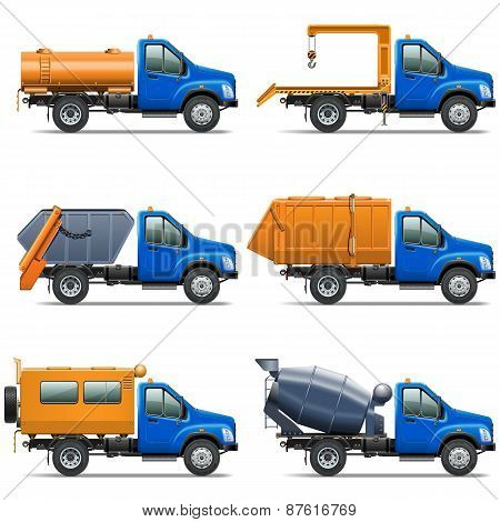 Vector Lorry Icons Set 5